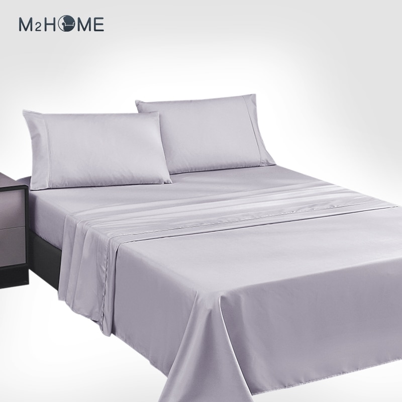 Bedsure ورقة مجموعة 150x200 / 190 سنتيمتر-4 قطع-قابل للتعديل سرير ورقة 150 مع أعلى 240x275 سنتيمتر 2 سادات 50x80cm