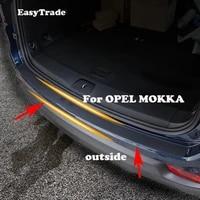car styling rear door sill plate protector anti scuff trunk outside door sill sticker for opel mokka accessories interior