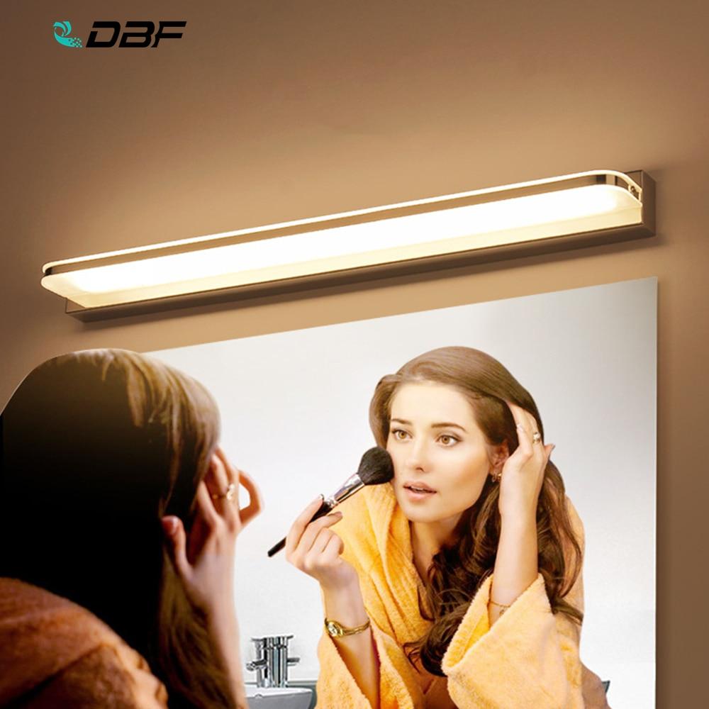3W/9W/12W Modern Bathroom Light Stainless Steel LED Front Mirror Light Makeup Wall Lamp Vanity Lighting Fixtures Mirror Lamp