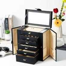 Haute qualité et haute qualité boîte à bijoux grande capacité européenne princesse coréenne ornement bague boîte bijoux boîte de rangement cadeau
