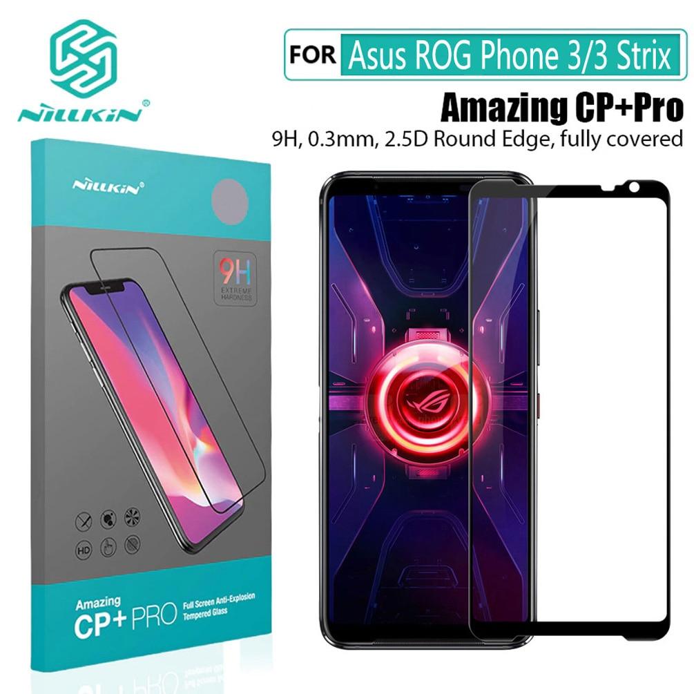 For Asus ROG Phone 3 cristal templado NILLKIN CP + Pro H + pro Anti-explosión 9H Protector de pantalla para teléfono For Asus ROG Phone 3 Strix