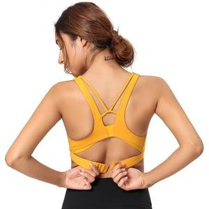 Push Up Yoga Bra Female Cross Back Nylon Solid Running Bra Women Sport Underwear Gym Bra Top For Fitness Workout Femme