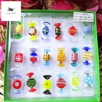 18 Types de bonbons Vintage Style Murano  divers bonbons en verre  ornement pour fete a domicile  mariage  decorations de Festival de noel  cadeau  nouveau