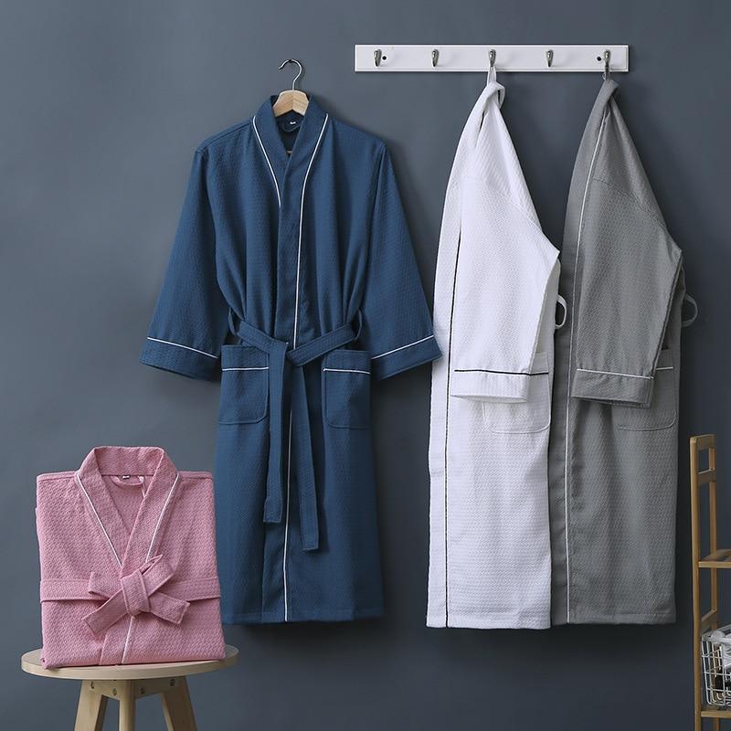 الرجال النساء الكبار فندق 100% القطن الهراء القطن الحمام زوجين منشفة استحمام الربيع الخريف قسم رقيقة القطن مثير ثوب النوم