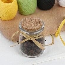 Cordel de papel rafia 200M, cuerda, cinta de regalo, manualidades para envolver ramo DIY para decoración de boda y fiesta
