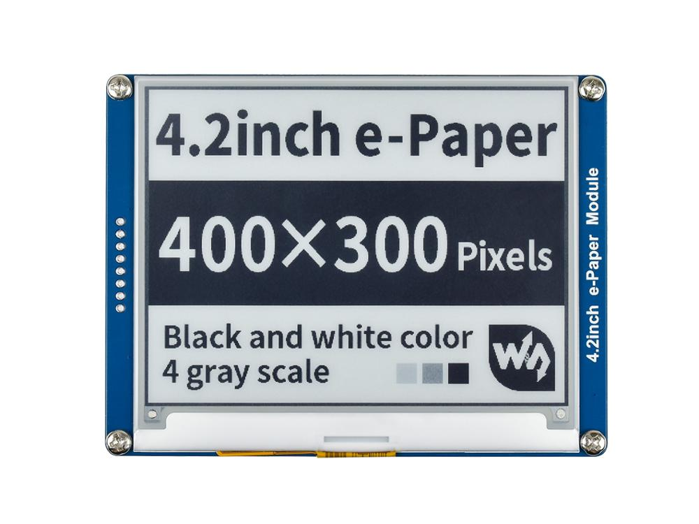 Waveshare 4,2 pulgadas e-ink display negro/blanco e-paper con interfaz SPI compatible para Raspberry Pi/Arduino/Nucleo/STM32 3,3 V/5V