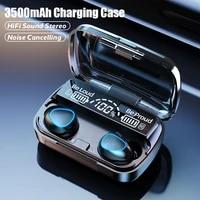 tws bluetooth 5 1 earphones 3500mah charging box wireless headphone 9d stereo sports waterproof earbuds headsets with microphone