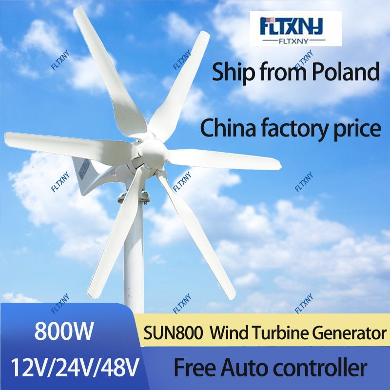 800W 48V Wind turbine with 6 blades and free 48V MPPT controller small wind turbine for home use