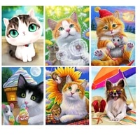 full square round animals diamond embroidery 5d diy diamond painting cat peacock 3d cross stitch 5d home decoration gift