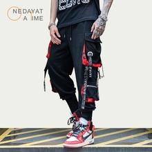 Hommes Style de rue mode pantalon nouveau ruban Harlan faisceau pantalon Hip Hop Streetwear hommes pantalon de survêtement décontracté marque Joggers neuf pantalons
