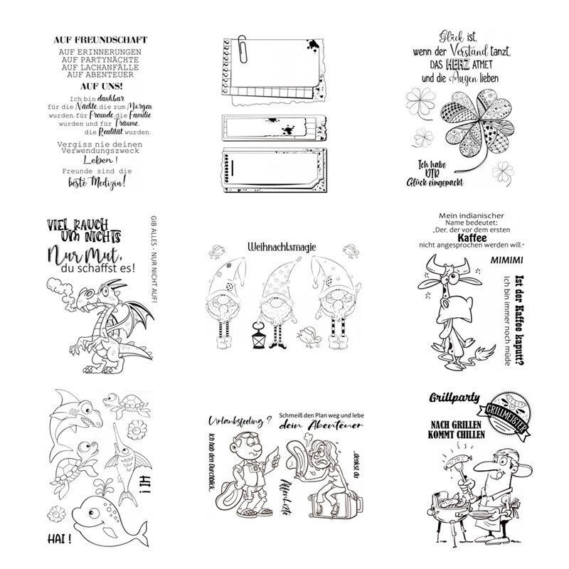 2021 DIY New Stamps For Scrapbooking And Clear Stamps Card Making Christmas Animals Germany Stamp Account Craft Set