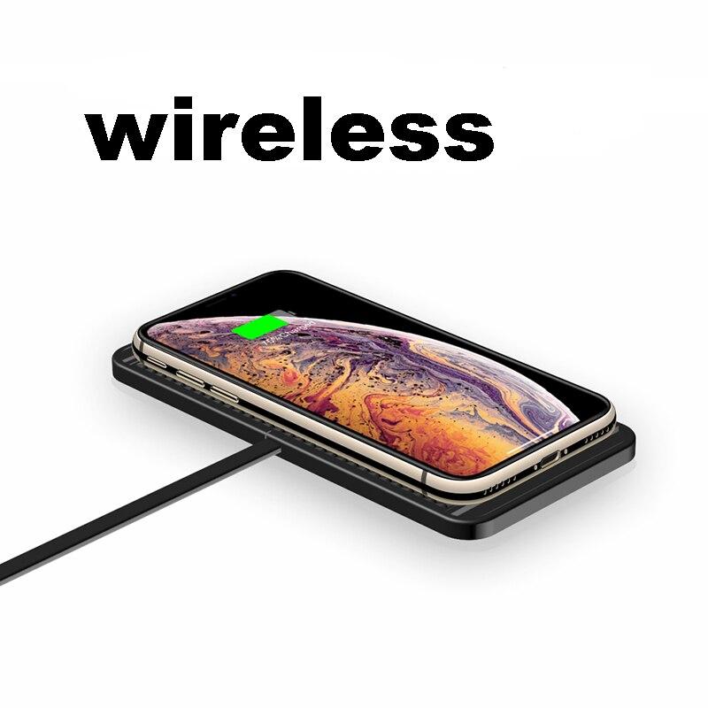 QI carro sem fio do carregador Pad Para iPhone XR XS rapidamente Titular Painel de Estação De Carregamento Doca Para samsung iphone 8 11 pro xiaomi