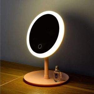 Makeup Mirror With Led Light Natural White Daylight Touch Screen Vanity Mirror Flexible Detachable Storage Usb Cosmetics Mirror