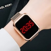luxury square digital magnetic watches for women rose gold led ladies quartz watch casual female colck reloj mujer dropshipping