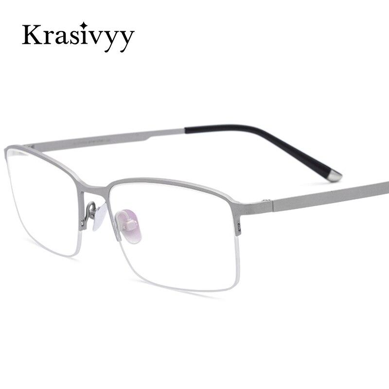 Квадратные полуочки Krasivyy для мужчин и женщин, чистый титан, оптические аксессуары для близорукости, ультралегкие аксессуары