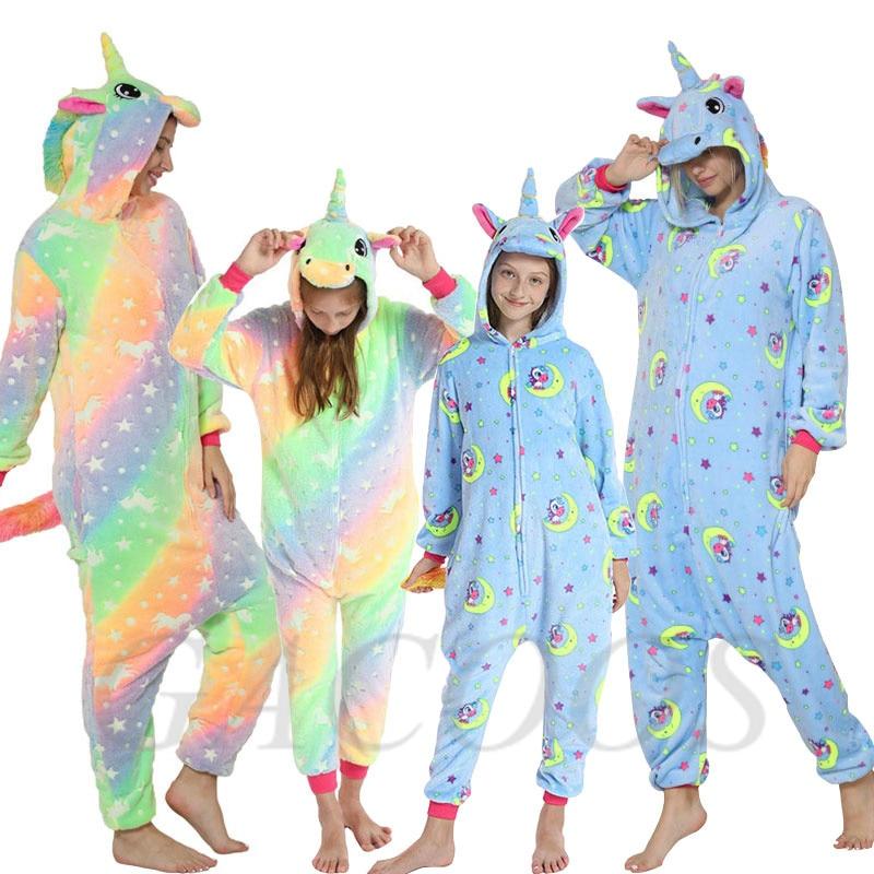 unicornio macacao criancas pijamas flanela pijamas para adolescentes meninos dos