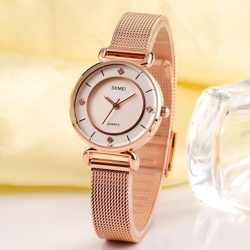 2020 SKMEI New Fashion Women Quartz Clock Waterproof Ladies Wristwatch Female Business Watches Relogio Feminino reloj mujer 1330 enlarge