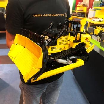 Creator Expert Urban Engineering Vehicle Large Bulldozer 1866 Pcs Moc Modular Bricks Building Blocks Technical Car Model Toys