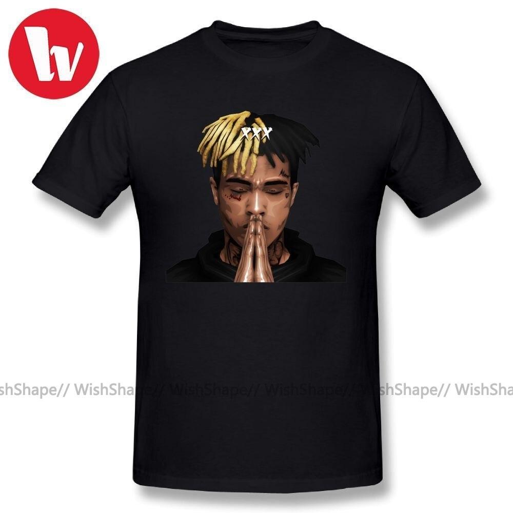 Футболка Lil Pump, XXXTENTACION FREE X PRAY, футболка с мультипликационным принтом, мужская повседневная футболка, базовая футболка большого размера 4XL 5XL 6XL