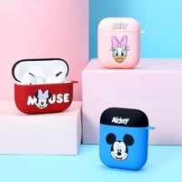 2021 disney mickey pooh airpods pro case apple wireless headset protective case pc hard shell bluetooth wireless headset case