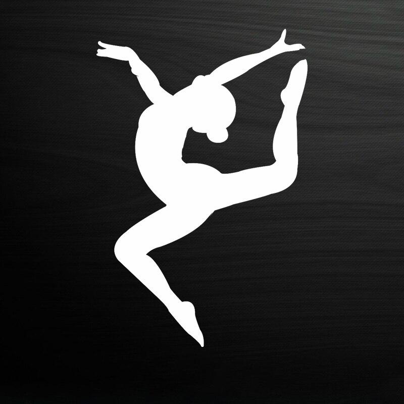 Женская гимнастика, женская модель, автоматическая Солнцезащитная Водонепроницаемая креативная самоклеящаяся наклейка, декоративные акс...