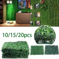 101520pcs boxwood panels hedge set uv protected privacy hedge screen faux boxwood for outdoor indoor fence garden