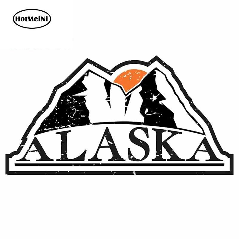 HotMeiNi 13cm x 6,9 cm para Alaska montañas Graffiti etiqueta engomada del...