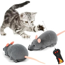 3 Colors RC Electronic Mice Cat Toys Wireless Remote ControlSimulation Plush Mouse Funny Interactive