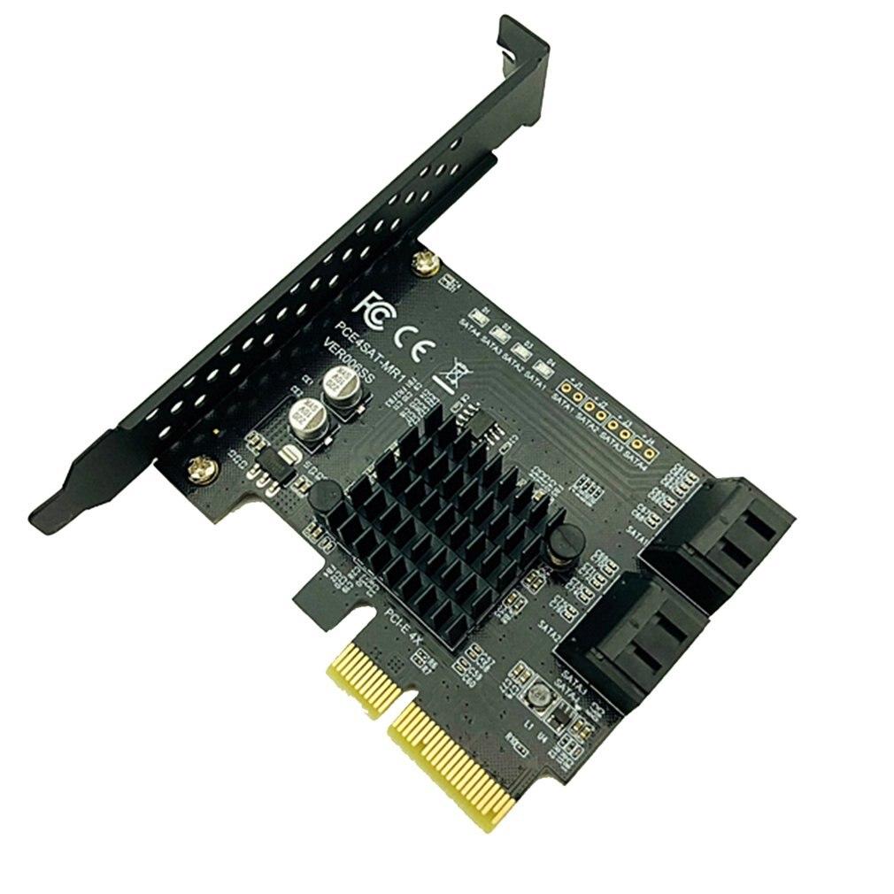SATA PCI Express 4 Ports Expansion Graphics Card SATA 3.0 Controller PCI-E Raid Card PCI E to SATA3.0 Adapter Converter Card