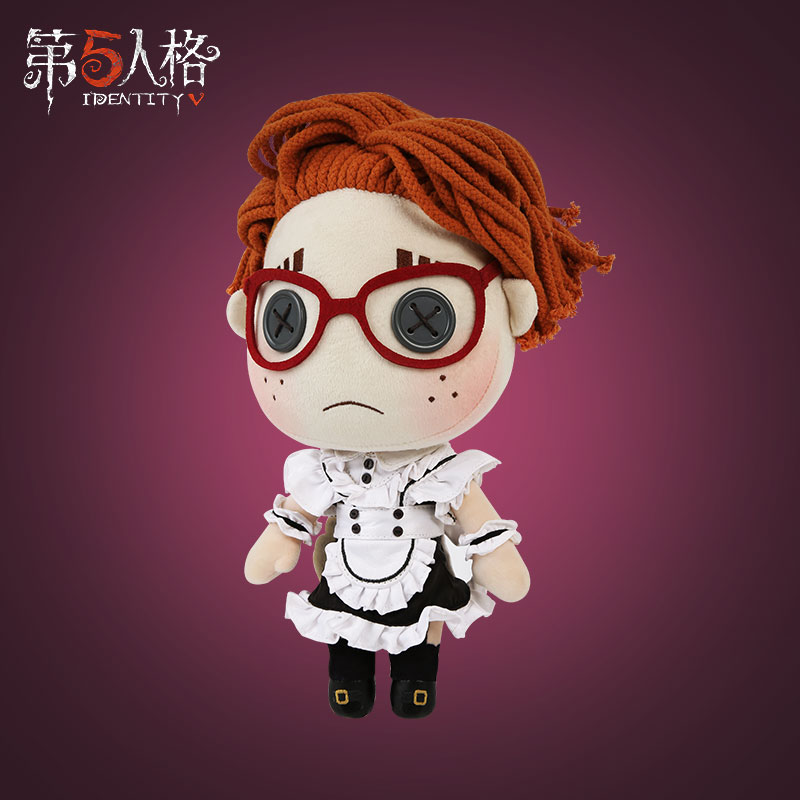 Lucky guy identidade v sobrevivente no vestido de empregada doméstica cosplay macio pelúcia brinquedo boneca maid outfi pele presentes de aniversário natal criança