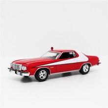 Greenlight 164 ford gran torino vermelho/branco diecast modelo carro sem caixa