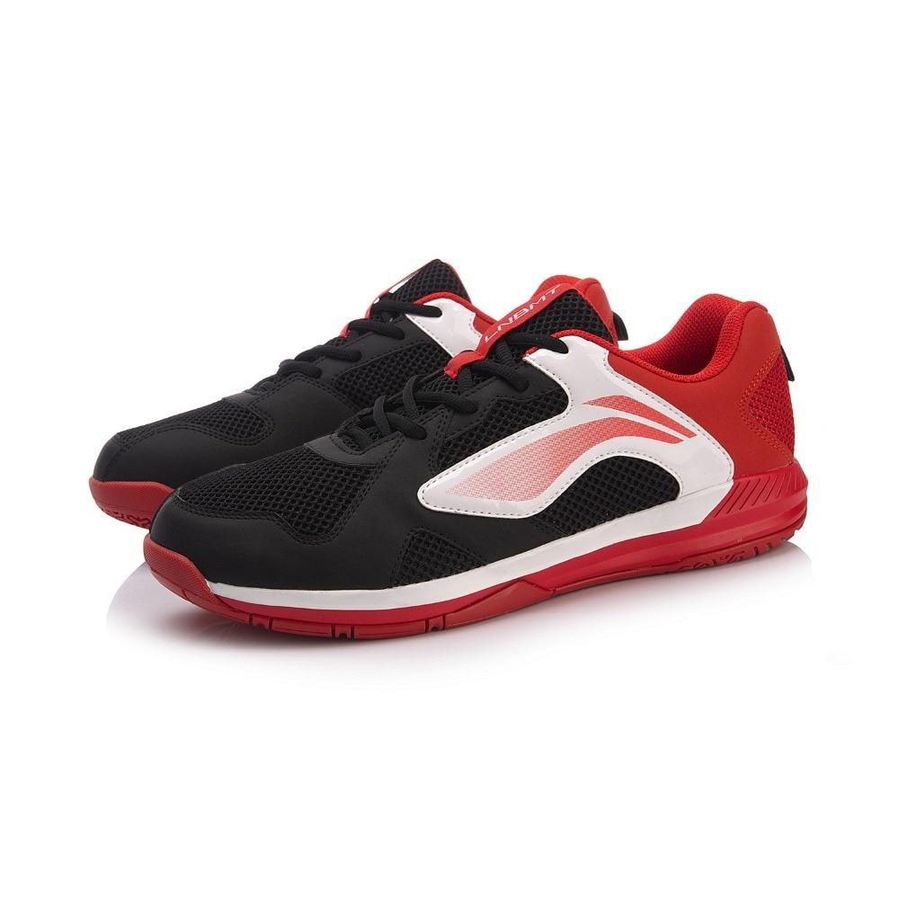 Туфли Li-Ning мужские для бадминтона, дышащая Спортивная нескользящая обувь, с подкладкой, AYTN051-4