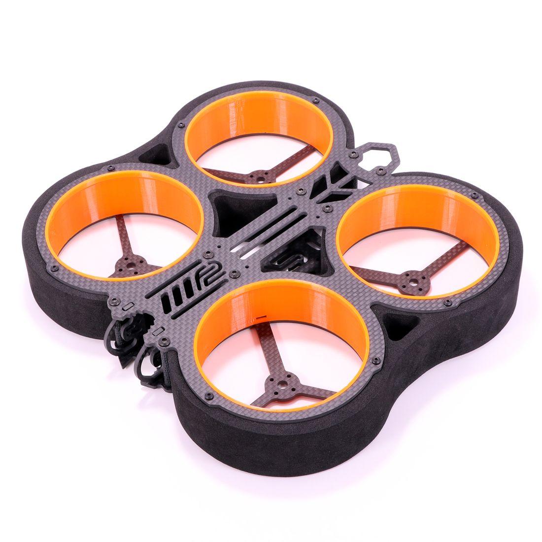 Feichao kit de rack para drone, kit de rack para alfarc f2 cineboy 3 Polegada, cinewhoop rc, quadricóptero de corrida uav multifuncional rotor