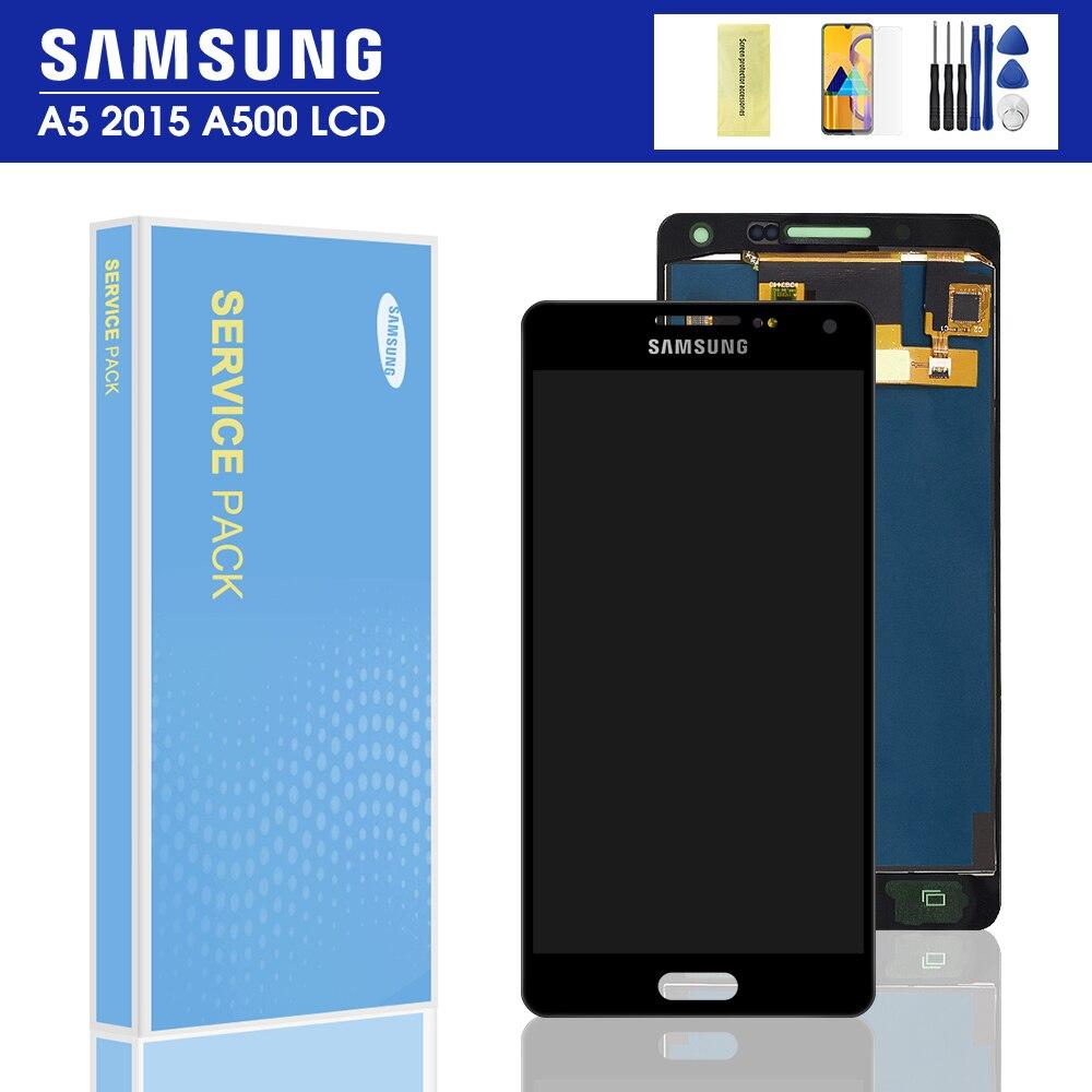 A500F дисплей для Samsung Galaxy A5 2015 A500 ЖК-дисплей сенсорный экран дигитайзер сборка A500FD A500H ЖК-яркость можно регулировать