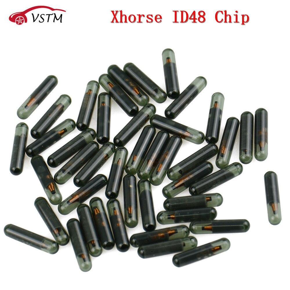 20 unids/lote ID48 llave de vidrio Chips para Xhorse llave VVDI programador coche copia 48 Chip VVDI2 herramienta clave