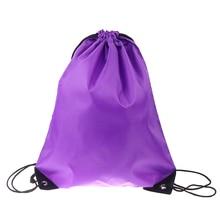 Portable Men Women Sports Gym Bag Nylon Drawstring Bags Belt Riding Backpack Shoes Bag Clothes Yoga