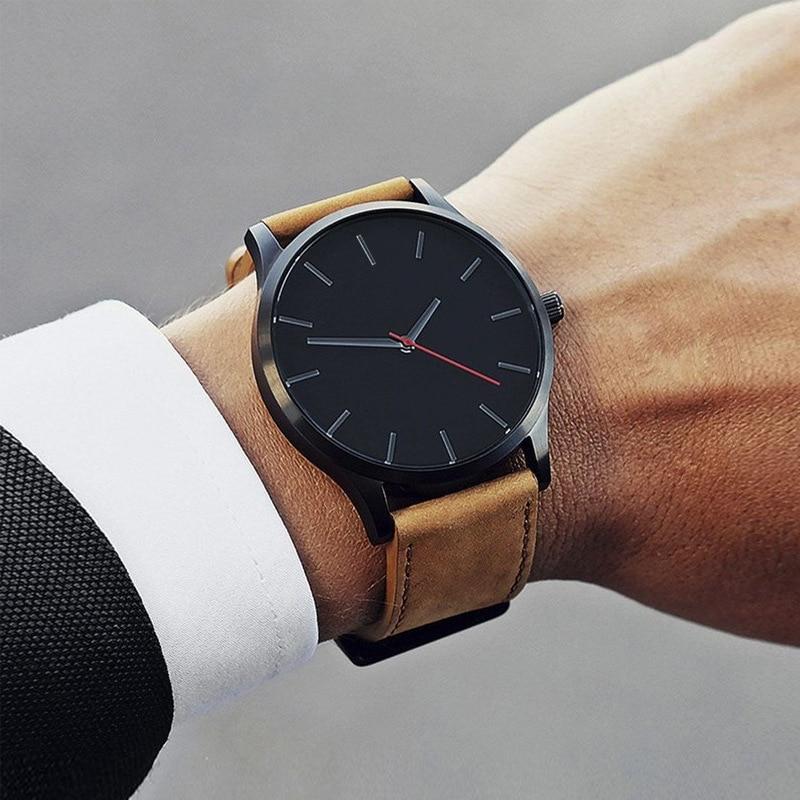 2021 NEW Luxury Brand Mens Watches Sport Watch Men's Clock Army Military Leather Quartz Wrist Watch Relogio Masculino
