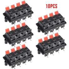 10 pièces 8 Position Pince Ressort Poussoir Terminal Haut-Parleur Connecteur De Borne de Haut-Parleur Clip