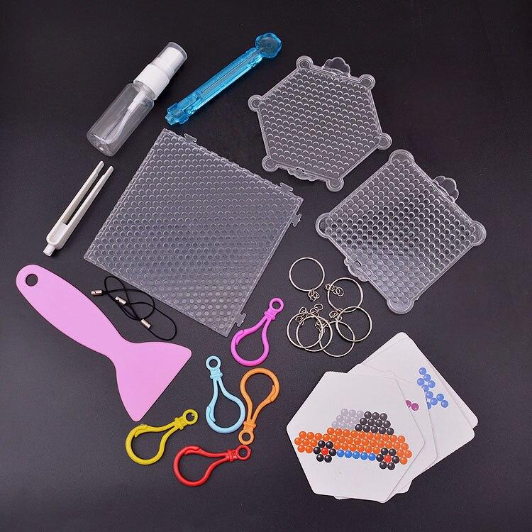 Tablero con cuentas de agua mágico, accesorios de cuentas de agua adhesivas, cuentas de fusible, rompecabezas, juguetes educativos diy beadbond