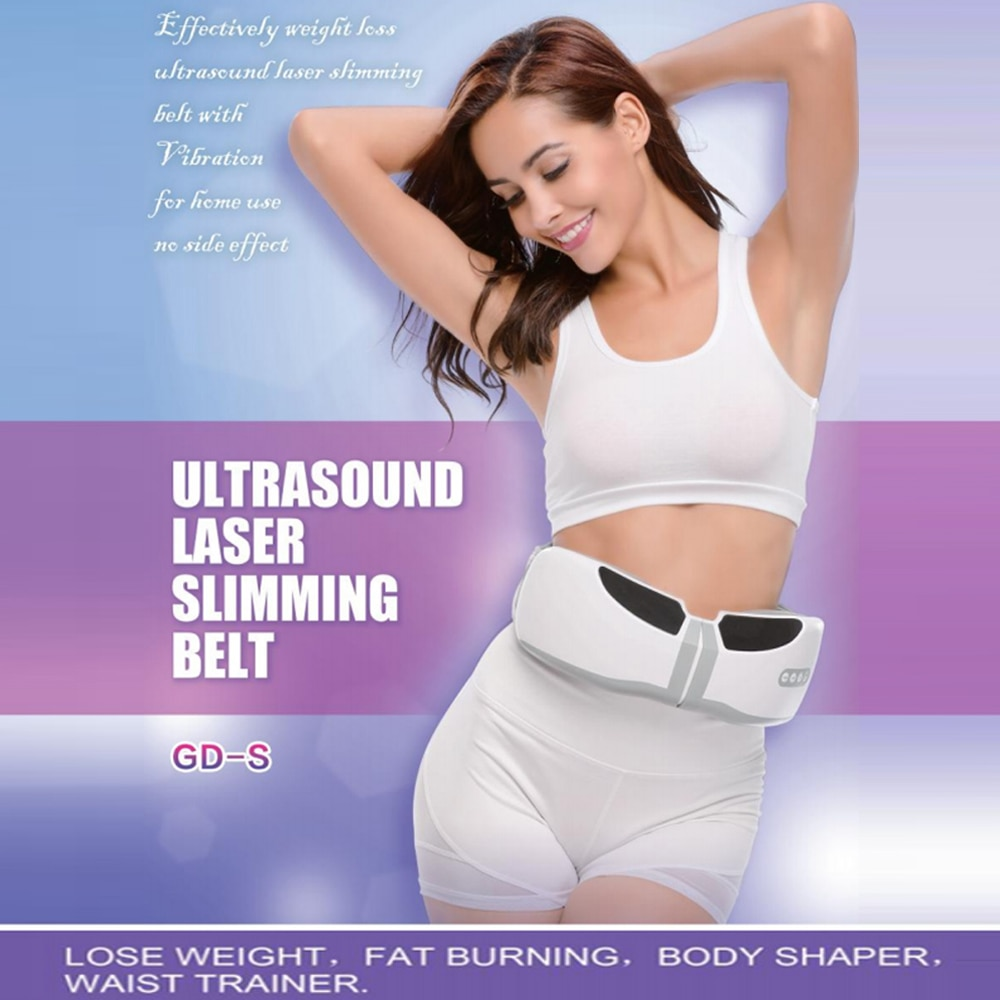 LASTEK láser de ultrasonido cinturón adelgazante dispositivo de terapia para perder peso quema grasa cintura formador de cuerpo vibrador masajeador de belleza