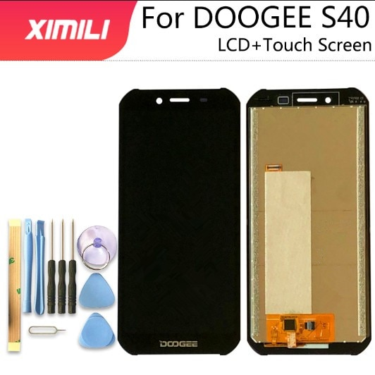 100% test yeni DOOGEE S40 LCD ekran + dokunmatik ekranlı sayısallaştırıcı grup 100% orijinal LCD + dokunmatik Digitizer için S40 Lite + araçları
