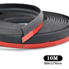 Уплотнительная лента для автомобильной двери, 10 м, Z образная отделка, шумоизоляция, Epdm уплотнитель для атмосферных воздействий, универсальное резиновое уплотнение для внутренних аксессуаров