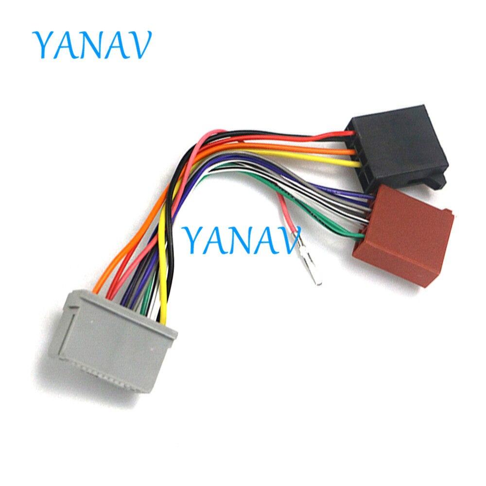 Adaptador de Radio 12-129 ISO para-HONDA 2008 + (modelos selectos), Conector de arnés de cableado, Cable de telar de plomo, Conector de Radio estéreo para coche