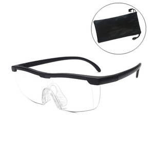 1.8X Magnifying Magnifier Glasses 200 Degree Magnifying Eyewear Reading Portable Glasses for Parents Reading Watching TV and Bag