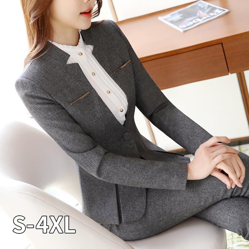 2020 heißer Verkauf Frauen Formelle Anzüge Weibliche Uniform Elegante Business Hosen Anzüge Frauen Arbeitskleidung Büro Hose Anzüge