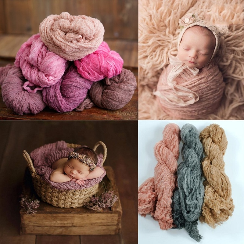 Newborn Photography Knitted Blanket Photobooth Props Soft  Stretchable for Baby Backdrop Photo Studio Photograph Lmage