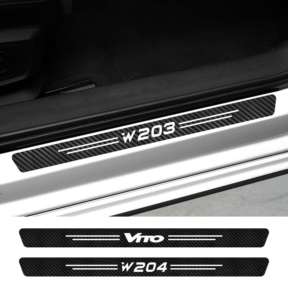 4 Uds coche pegatina para umbral para Mercedes W124 W203 W204 CITAN...