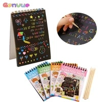wood stick graffiti coloring book kids crafts kdis drawing toy colorful diy craft educational toys fun doodling scratch children