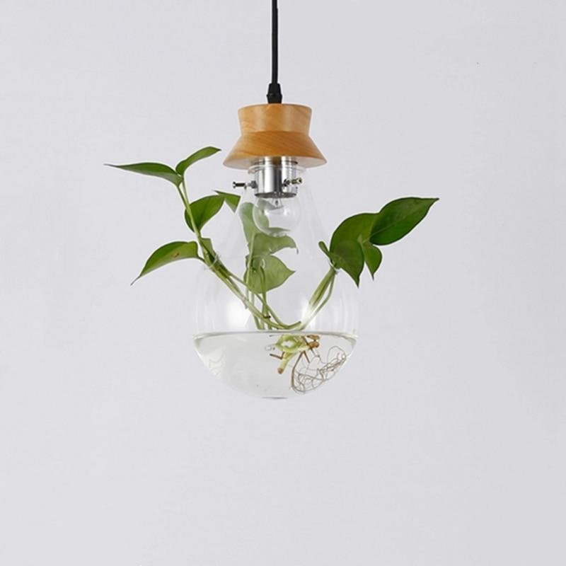 Modern Pastoral Design Plant pendant lights simple dining living room study cafe art decor glass hanglamp