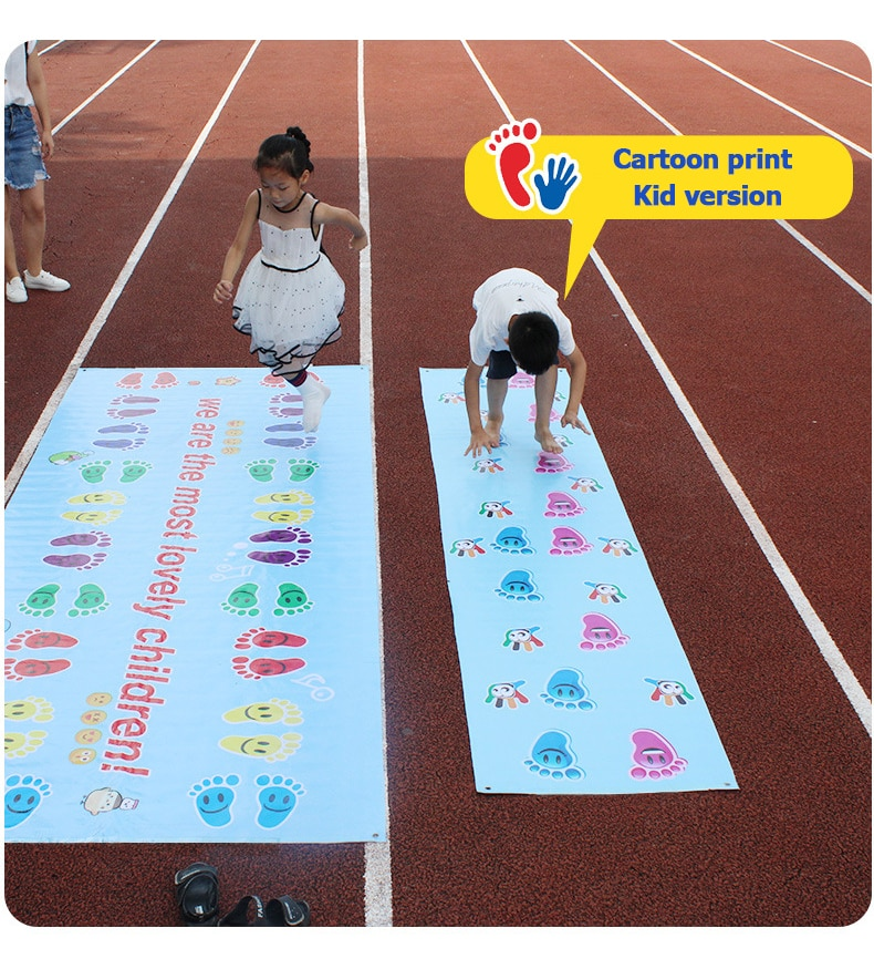 Kids Jumping Carpet Baby Jump Lattice Kindergarten Team Game Pad Early Childhood Fun Toys Child adult indoor Outdoor Sports Toys